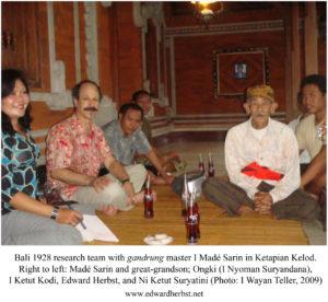 Bali 1928 Research Team