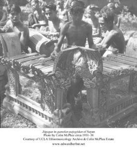 Jégogan in gamelan pajogédan of Sayan